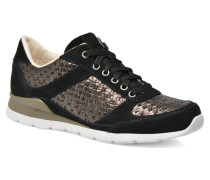 Avelyn Metallic Basket Sneaker in schwarz