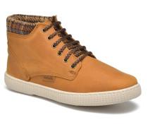Bota Piel Bombeada Cuello Sneaker in braun