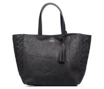Cabas Parisien Mm Tresse Cotes Handtaschen für Taschen in blau