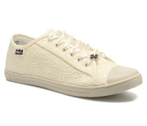 Derby strass Sneaker in beige