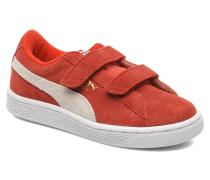 Suede 2 Straps Kids. Sneaker in rot