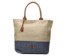 Straw leather Shopper Handtaschen für Taschen in beige