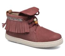 Botin Flecos Serraje Sneaker in rot