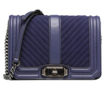 CHEVRON QUILTED SMALL LOVE CRO Handtasche in blau