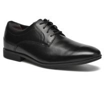 Styleconnected Plain Toe Schnürschuhe in schwarz