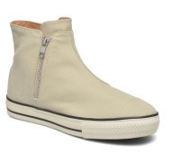 Ctas High Line Peached Canvas Mid Sneaker in beige
