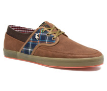 TEA PLAID MIX Sneaker in braun