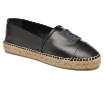 Karl Leather Espadrille Espadrilles in schwarz