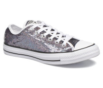 Chuck Taylor All Star Iridescent Sequin Ox W Sneaker in grau