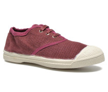 Tennis Velvet Dots Sneaker in weinrot