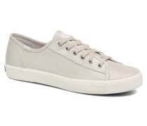 Kickstart Metallic Linen Sneaker in grau