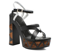 Facett 9 Cross Ankle Kimberley Sandalen in schwarz