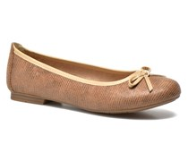 Lila Ballerinas in braun