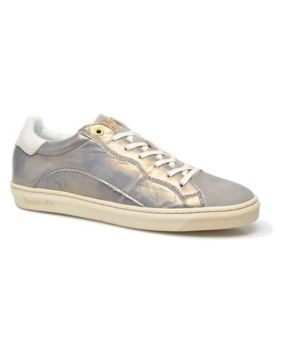 pantofola d oro damen pantofola d 39 oro gianna low ladies sneaker f r damen silber reduziert. Black Bedroom Furniture Sets. Home Design Ideas