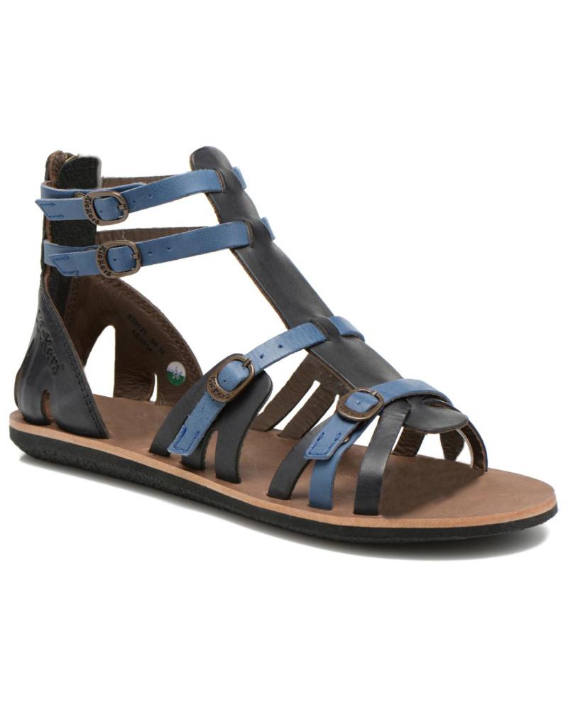 kickers damen kickers spartiaten sandalen f r damen schwarz reduziert. Black Bedroom Furniture Sets. Home Design Ideas