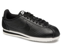 W Classic Cortez Leather Prem Sneaker in schwarz
