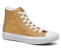 Chuck Taylor All Star II Hi Perf Metallic Leather Sneaker in goldinbronze