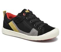 Zigzaguer Sneaker in schwarz