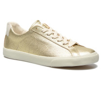 Esplar Low Leather Sneaker in goldinbronze