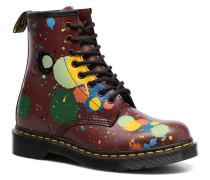 1460 Splatter Stiefeletten & Boots in rot