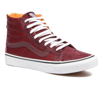 SK8Hi Slim Zip Sneaker in weinrot