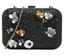Embellished Flower Box Clutch Mini Bags für Taschen in schwarz