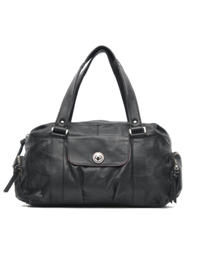 Totally Royal leather Small bag Handtasche in schwarz