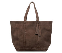 Cabas Frida tressé cuir velours Porté épaule M+ Handtaschen für Taschen in braun