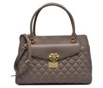 Quilted flap handbag Handtaschen für Taschen in grau