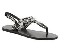 Jane Woven Metallic Sandalen in schwarz