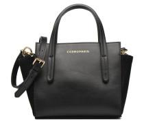 MEYAinCROCO Porté travers Cuir Handtaschen für Taschen in schwarz