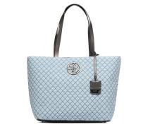 G Lux Large Tote Zippé Handtasche in blau