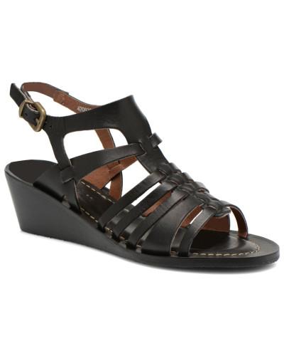 kickers damen fasta sandalen in schwarz reduziert. Black Bedroom Furniture Sets. Home Design Ideas