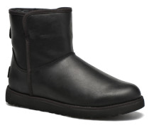 W Cory Leather Stiefeletten & Boots in schwarz