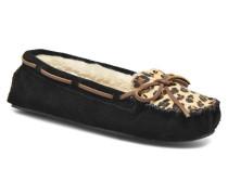 Leopard Cally Hausschuhe in schwarz