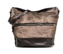 Seau fourrure Handtaschen für Taschen in grau