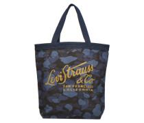 Printed Canvas Graphic Tote Bag Handtaschen für Taschen in blau