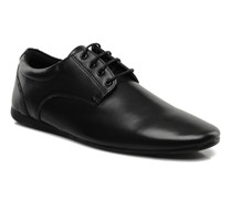 Fidji New Derby Lucas Leather Schnürschuhe in schwarz