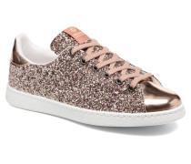 Deportivo Plateform Glitter Sneaker in rosa