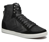 Ten Star Mono Oiled High Sneaker in schwarz