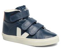 Esplar Mid Small Velcro Fured Sneaker in blau