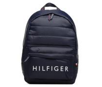 Light Nylon Backpack Rucksack in blau