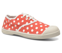 Tennis Lacets Pois E Sneaker in rot