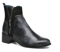 GLEDY Mul Ch Tunnel NOIR ~Doubl & 1ere CUIR Stiefeletten Boots in schwarz