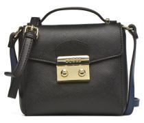 Aria Crossbody Flap Handtasche in schwarz