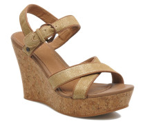 Jazmine Metallic Sandalen in goldinbronze