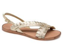 Mindy leather sandal Sandalen in goldinbronze