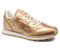 Classic Leather Metallic Sneaker in goldinbronze