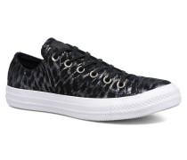 Chuck Taylor All Star Shimmer Suede Ox Sneaker in schwarz