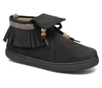 Botin Flecos Serraje Sneaker in schwarz